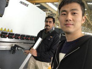Algieria Testowanie klienta Prasa hamulca Maszyna w naszej fabryce