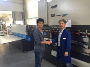 Cypr Klient Odwiedź Press Brake Machine i Shearing Machine w naszej fabryce